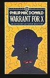 Warrant for X, Philip MacDonald, 0394716604