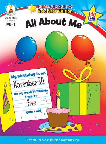 All About Me, Grades PK - 1: Gold Star Edition (Home Workbooks)