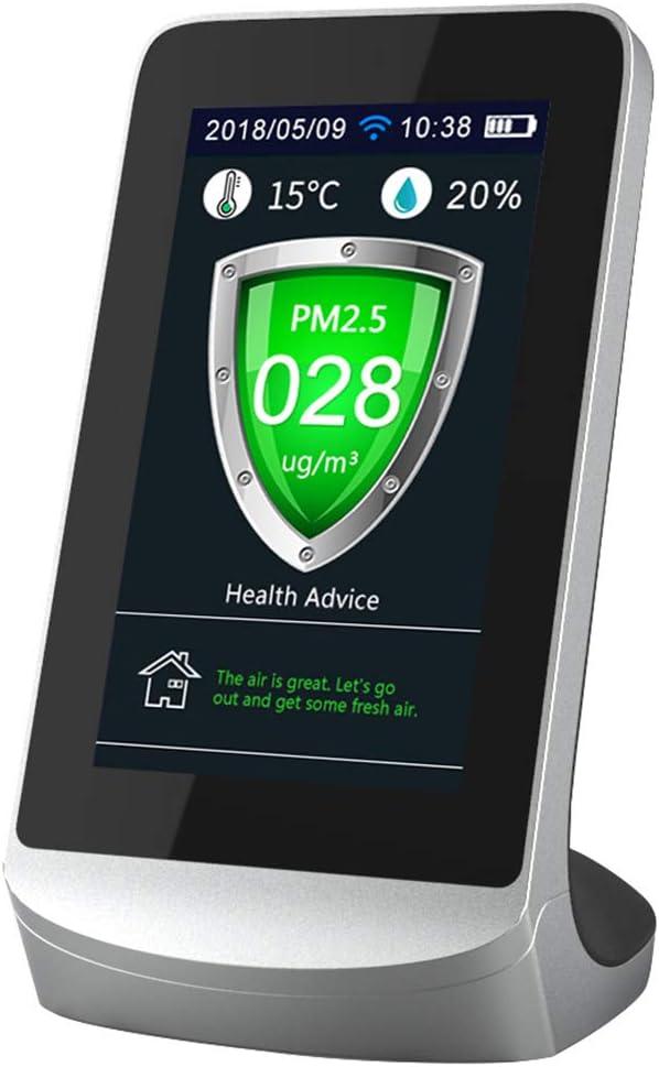 Cimoto WIFI Pantalla LCD Digital Medidores de CO2 TVOC HCHO Detector de Di/óXido de Carbono Analizador de Gas Probador de Calidad del Aire Protable
