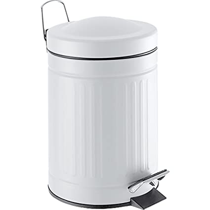 Laroom Cubo, Acero Inoxidable y PP Bucket, Blanco: Amazon.es ...