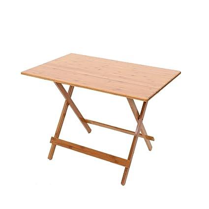 Amazon.com: zhirong bambú arte mesa cuadrada plegable ...