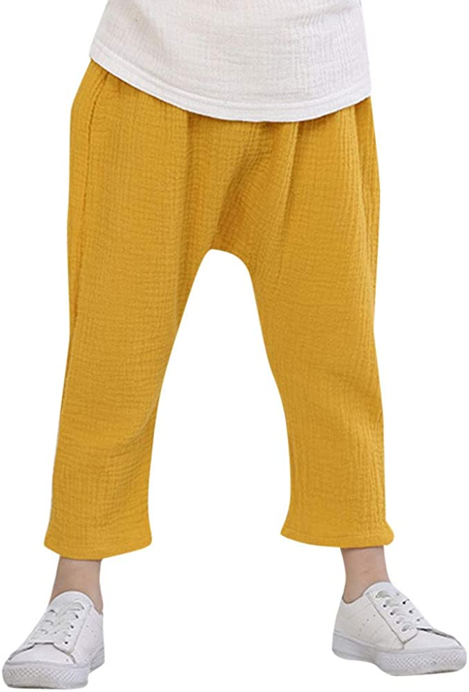 2 Pack HUAER/& Baby Long Bloomers Harem Pants Boys Girls Anti-Mosquito Pants