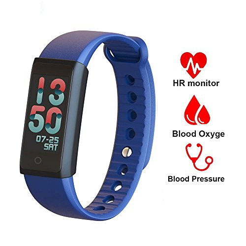 Fitness Tracker Watch with Heart Rate Monitor,Waterproof Activity Tracker with Multiple Sports/Steps Counter/Sleep Monitor/Connected GPS Wristband for Android and iOS Smartphone (Gps Enabled Mobile)