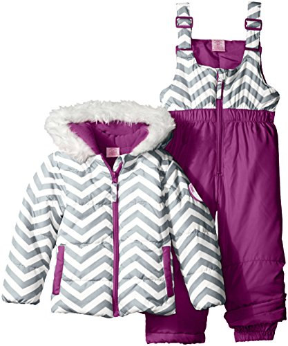 U.S. Polo Assn. Girls' Toddler Girls' Zig Zag Patterned Puffer Pram