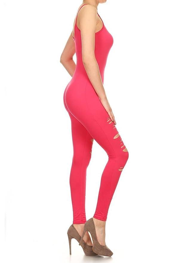 776bad9997 Amazon.com  Leggings Depot Premium Quality Jersey Tank Unitard Jumpsuit  Romper Gym  Clothing