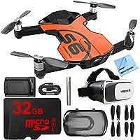 Wingsland S6 Quadcopter Orange Mini Pocket Drone 4K Camera 32GB VR Kit
