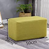 Solid Wood Sofa Bench Change Shoe Bench Bedroom Cloth Bed End Stool Osman Fashion Makeup Stool Stool (Green)