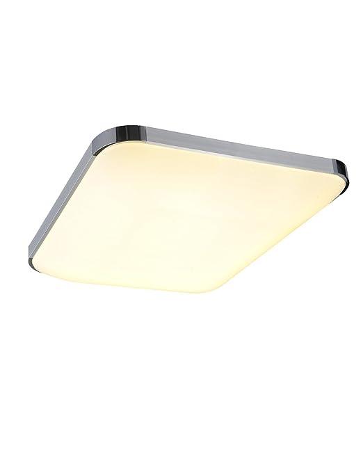 SAILUN 24W Warmweiss LED Modern Deckenleuchte Deckenlampe Flur Wohnzimmer Lampe Schlafzimmer Kche Energie Sparen Licht Silber Amazonde Beleuchtung