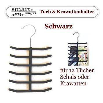 Tuch /& Krawatten Halter rutschfest perfect Kleiderbügel Smart-Hangers Grau