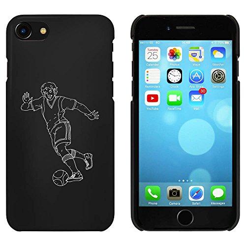 Noir 'Joueur de Football' étui / housse pour iPhone 7 (MC00073363)
