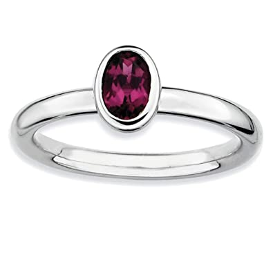 d77b31f063ef7 Amazon.com: Lex & Lu Sterling Silver Stackable Expressions Oval ...