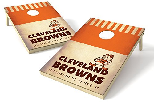 (PROLINE NFL 2'x3' Cleveland Browns Cornhole Set - Nostalgia Design )