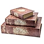 Bellaa 28151 Book Boxes The Holy Bible Secret Storage Set of 3