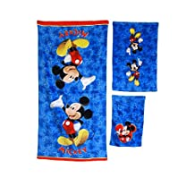17pc Disney Mickey Mouse Clubhouse Shower Curtain Bath Towel Foam Mat Hooks Set