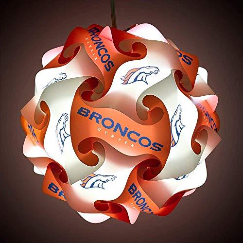 FanLampz Original Self-Assembly Lighting System for Patios, Garages, Man Caves - NFL Officially Licensed Item (Denver Broncos)