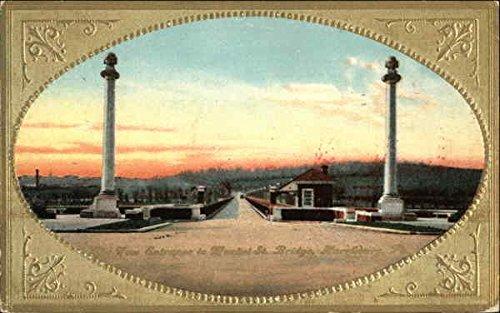 West Entrance to Market St. Bridge Harrisburg, Pennsylvania Original Vintage Postcard