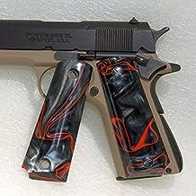 Browning 1911 .22 or .380 Gun / Pistol Grips, Black Lava