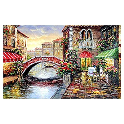 Adults 1000 Pieces Puzzle - Seaside Town Jigsaw Puzzles Up to 1000 Pieces - Leisure Holiday Gift for Adults & Kids: Jewelry