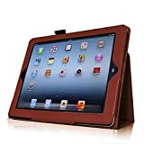 SANOXY IPAD 2/3/4 Vegan PU Leather Folio Case with Stand for Apple IPAD 2/3/4 (Brown)