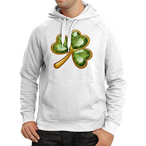 lepni.me Hoodie Irish Shamrock ST Patricks Day Clothing (X-Large White Multi Color)
