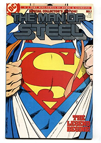 1986 First Issue (MAN OF STEEL #1-FIRST ISSUE-DC comic book 1986)