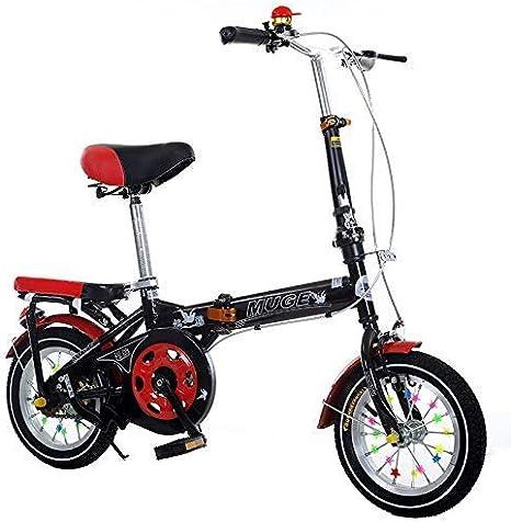 Bicicletas Road School niños de la Bici Plegable al Aire Libre Estudiante Adulto Bicicleta Niño Niña Alumnos de Bicicletas de 18 Pulgadas / 20 Pulgadas (Color: Negro, Tamaño: 18 Pulgadas) lalay: Amazon.es: