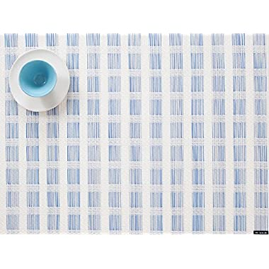 Chilewich Stich Placemat in Lake 14  X 19  (One Piece)