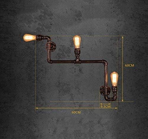 Giow Tubo de Enchufe, lámpara de Pared Vintage, lámpara de Hierro, Exterior, Exterior, Industria de la ingeniería, instalación Extensible, Escalera operada, Pasillo, luz Decorativa E27, 60 * 60 c: Amazon.es: Hogar