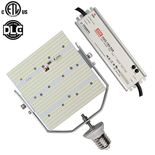 120W LED Retrofit Kit, Daylight 5000K E39 Mogul Base Commercial Parking Lot 480V 347Volt Replace 400Watt Metal Halide Shoebox Pole Lights AC185-528V Input (120)
