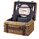 PICNIC TIME NCAA Mississippi Old Miss Rebels Champion Picnic Basket with Deluxe Service for Two, Navy Review