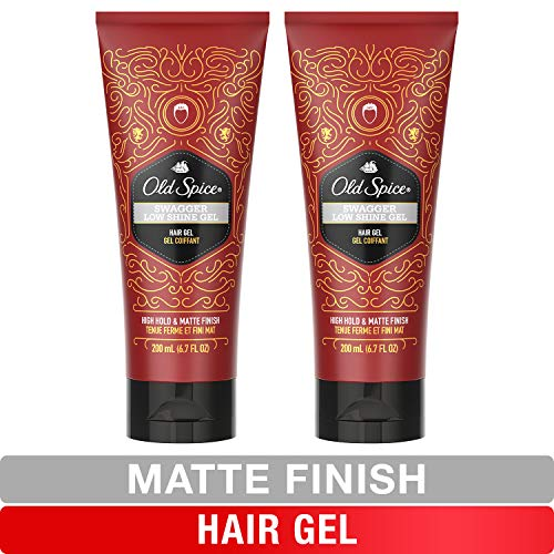 Old Spice, Hair Gel for Men, Low Shine, High Hold, Matte Finish, Swagger, 6.7 oz, Twin Pack - Men Hair Styling Gel