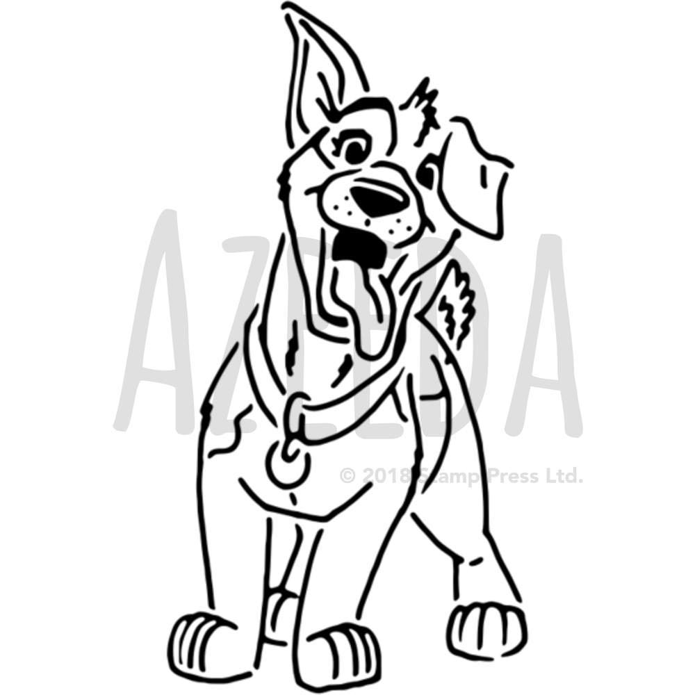 Azeeda A5 「Happy Dog」壁用ステンシル/テンプレート (WS00029684) B078JNJZNY