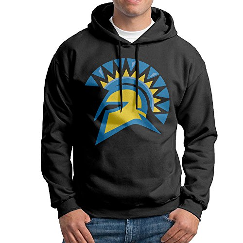 E~.~!S San Jose State University Spartans Men's Cool Hoodie Black M (San Jose Costume)