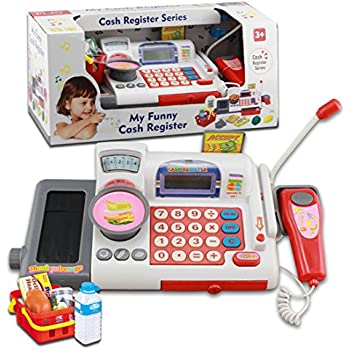 UniM Kids Cash Register Toy Children Educational Cash Register Toy Set