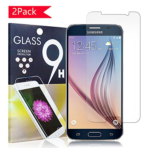 Tempered Glass Screen Protector For Samsung Galaxy S6 (Clear) - 2