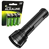 Nitecore EA81 Cree XHP50 Searchlight Flashlight with 8 Premium Eco-Sensa AA batteries