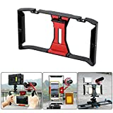 Andoer Ulanzi Handheld Smartphone Film Making Rig Handle Stabilizer Bracket Holder Cradle Phone Clip w/ Two Hot Shoe Mount for Apple iPhone 7/7s/6s/6 for Samsung Huawei Video Photo Studio