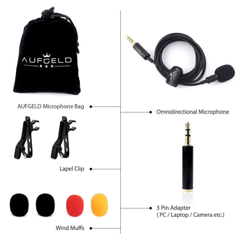 ... Microphone for iPhone Android Windows Cellphone Clip On Mic Interview Video Voice Podcast Noise Cancelling Mic Blogger Vlogger: Musical Instruments