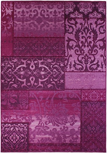 Andiamo 1100362 Vintage Flach / Kurzflor Classique Teppichläufer Orient Muster Vintage Look Läufer, 133 x 190 cm, lila