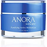 Anora Skincare Fortifying Active Moisturizer, Pollution Fighting & Skin Protecting Day Cream Made w/Natural Ingredients, Peptides, Hyaluronic Acid, Shea Butter, Plant-Derived Squalane (1.7oz / 50ml)