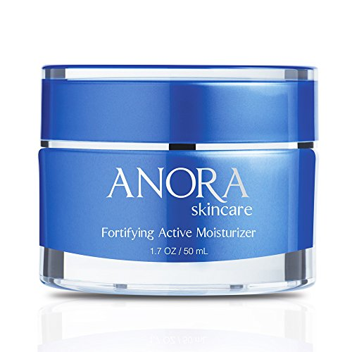 Anora Skincare Fortifying Active Moisturizer, Pollution Fighting & Skin Protecting Day Cream Made w/ Natural Ingredients, Peptides, Hyaluronic Acid, Shea Butter, Plant-Derived Squalane (1.7oz / 50ml) ()