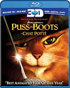 Puss in Boots - Le chat potté [Blu-ray 3D + Blu-ray + DVD + Digital Copy] (Bilingual)