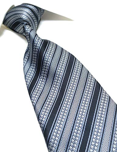 Towergem Extra Long Tie Men's Woven Jacquard Handmade Striped Necktie XL 63