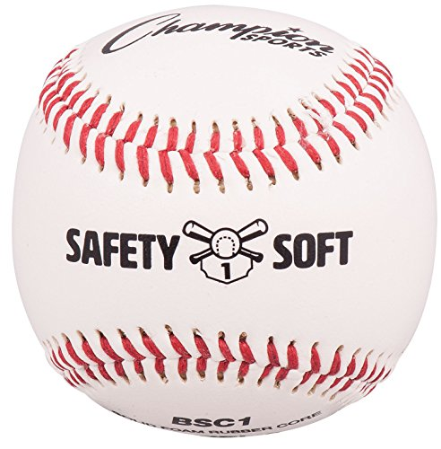 Champion Sports Soft Compression Baseball for Ages 5 to 7 (Pack of 12), - Champion Leather Baseball