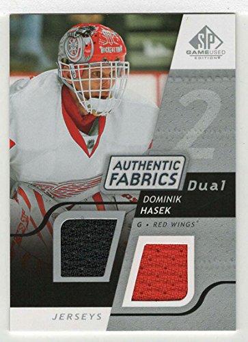 Dominik Hasek (Hockey Card) 2008-09 Upper Deck SP Game Used Dual Authentic Fabrics # AF - DH ()