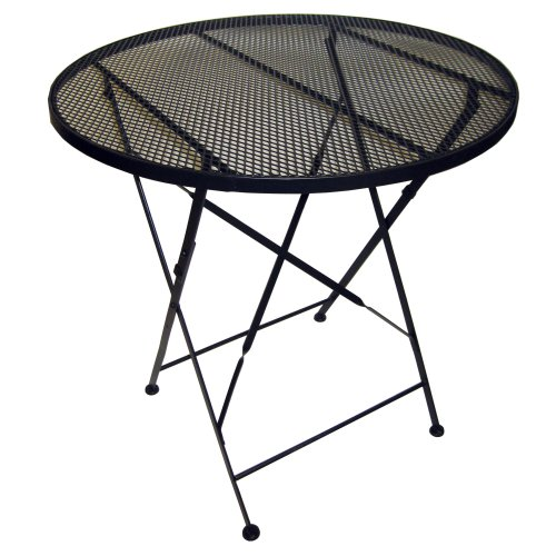 Pangaea Folding Iron Garden - Pangaea Folding Patio Table with Mesh Iron Top