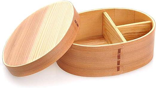 Amazon.com: miraclekoo Almuerzo Caja Bento Caja de madera ...