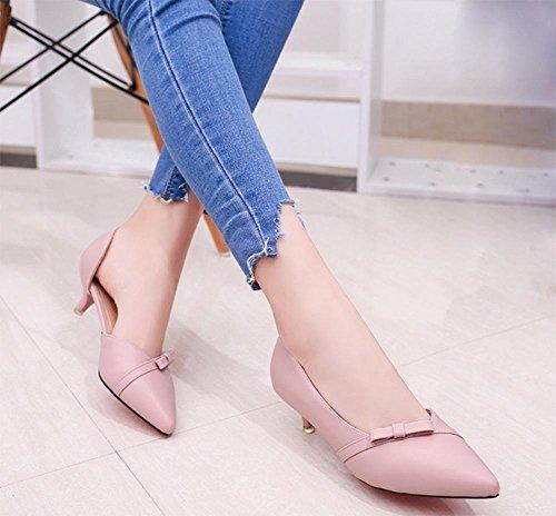 Baotou wies Tasche mit weiblichen Sandalen gut mit den Bogen Sandalen weiblichen Sommer Sandalen und Pantoffeln pink