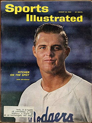 SI: Sports Illustrated August 20, 1962 Pitcher On The Spot Don Drysdale GOOD
