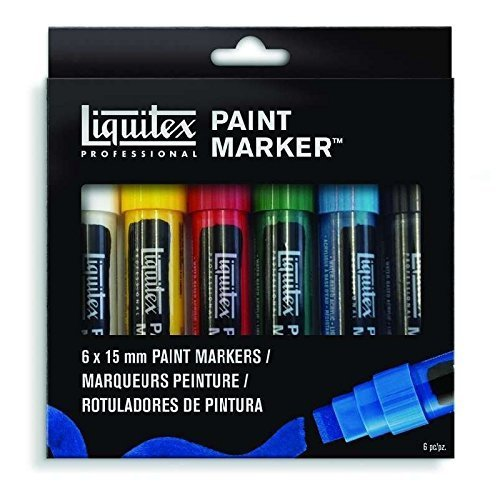 Liquitex 4690001 Acrylic Paint Marker 6-Color Wide Set by Li